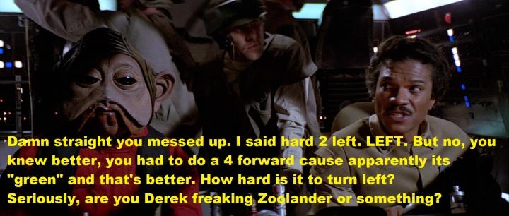 Lando left