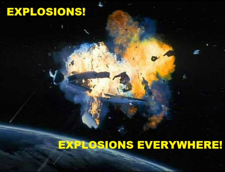 space explosion