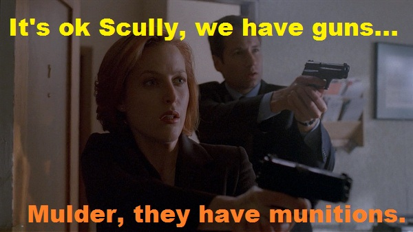mulder scully guns