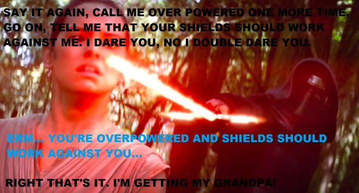 Kylo Rants at Rey