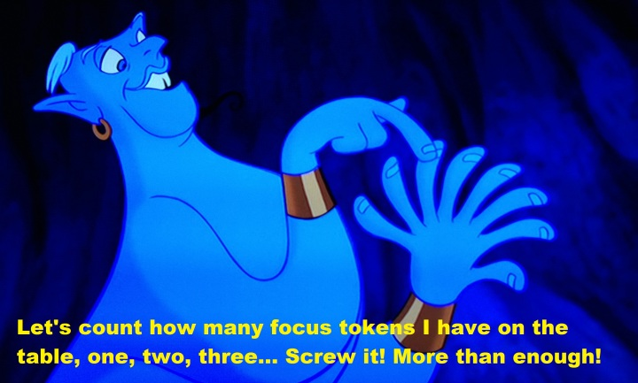 Genie count the focus tokens