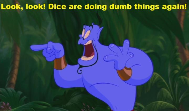 Genie dice shock