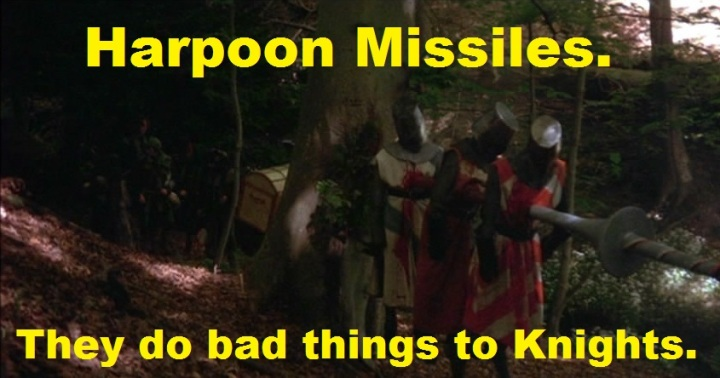 Harpoon missiles are the hotness