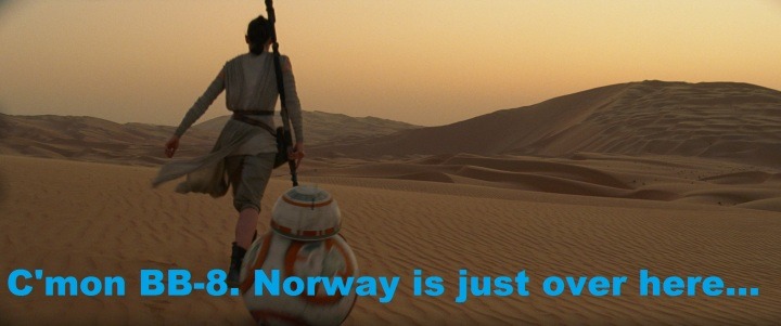 Norway is over there